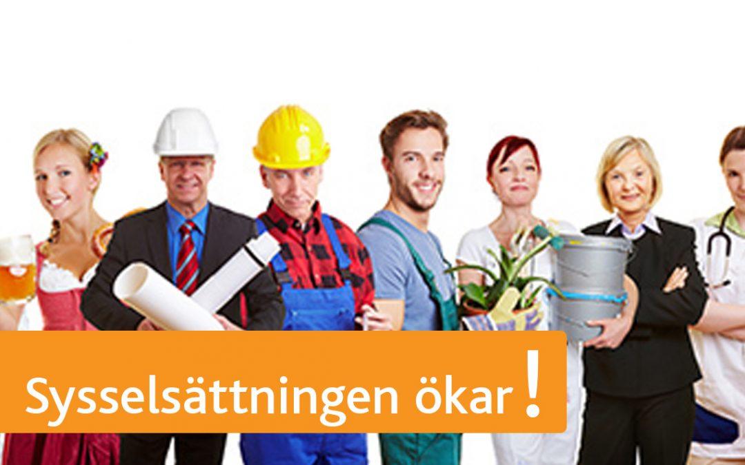 Sysselsättningen ökar